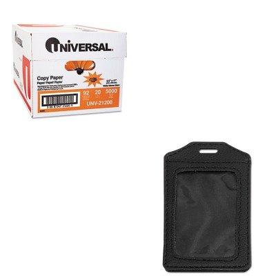 KITAVT76341UNV21200 - Value Kit - Advantus Leather-Look Badge Holder (AVT76341) and Universal Copy Paper (UNV21200)