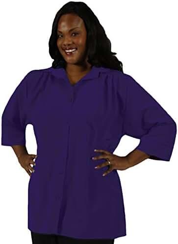 A Personal Touch Purple Women's Plus Size Blouse