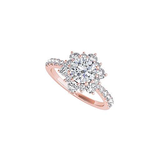 Flower Design Ring in 14K Rose Gold Vermeil