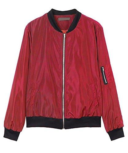 Zip Bomber Bomber Light Short Women Red Aj Aviator Fashion Classic xRZwnqYS