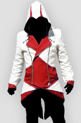Assassins Creed 3 Connor Kenway chaqueta con capucha disfraz Rojo ...