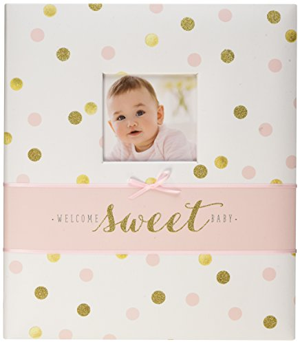 C.R. Gibson First 5 Years Loose Leaf Memory Book, Record Memories and Milestones on 64 Beautifully Illustrated Pages - Sweet Sparkle