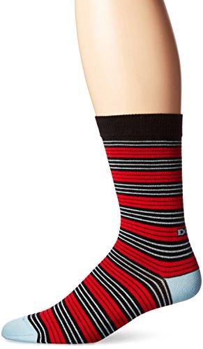 Diesel Men's Ray Stripe Socks, Red/Black, (Ray Stripe)