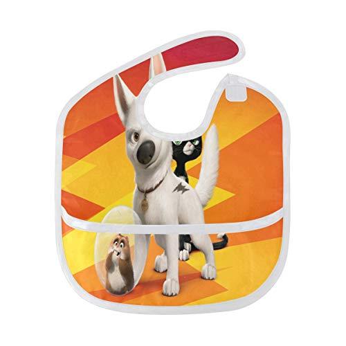 - Baby Bibs Bolt Dog Amusing Cartoon Large Drool Bibs for Girls Pullover Bib/Smock