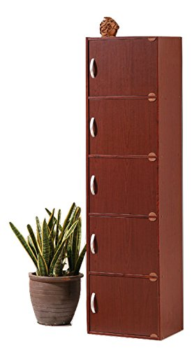 al Wooden Storage File Cabinet in Mahogany Brown (Mahogany Vertical File Cabinet)