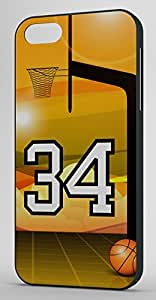 Basketball Sports Fan Player Number 34 Black Plastic Decorative iphone 6 4.7 Case