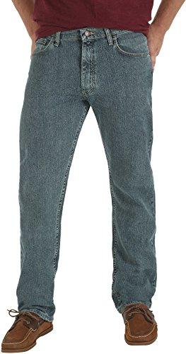 Wrangler Regular Fit Jeans Genuine (Wrangler Genuine Mens Comfort Regular Fit Jeans 38W x 32L Greyed Blue)