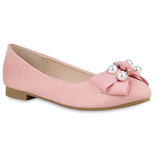 Stiefelparadies Damen Ballerinas Lack Schleifen Flats