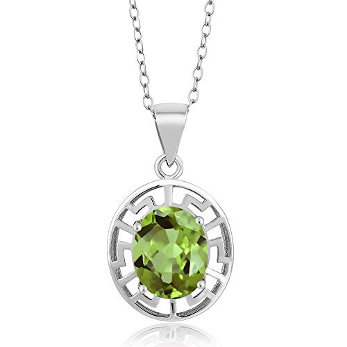 Gem Stone King Greek Key 925 Sterling Silver Pendant With chain