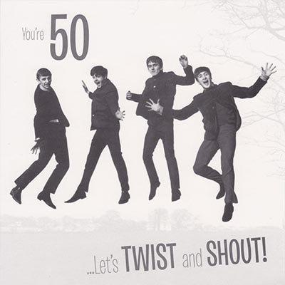 The Beatles Biglietto Di Auguri Per Il Cinquantesimo Compleanno