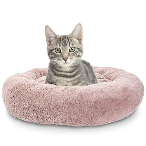 SHU UFANRO Dog Beds for Small Dogs Round, Cat Cushion Bed, Pet Beds Improved Sleep, Machine Washable, Non-Slip Bottom(23