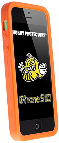 Horny Protectors® Schutzhülle Cover Case Retro Style Nintendo Game Boy für Apple iPhone 5c Orange Silikon