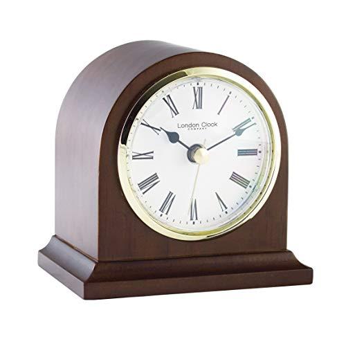 - London Clock - Mahogany Finish Arch Top Mantel Clock by London Clock Company