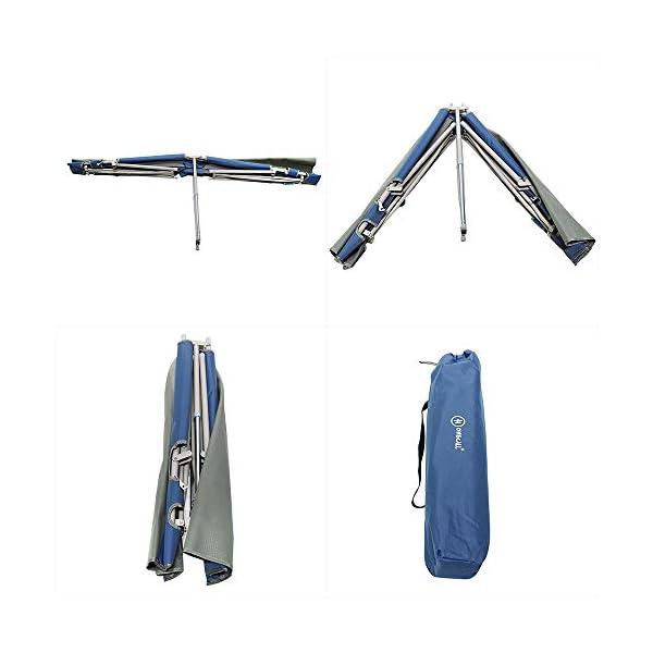Homecall Letto pieghevole da campeggio colore grigio/blu 4 spesavip