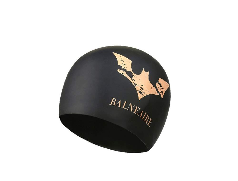 MTkxsy スイミングキャップ男性と女性の大人のプロフェッショナルシリコーンスイミングキャップロングヘア防水帽子 B07Q5ZNBB9 ブラック