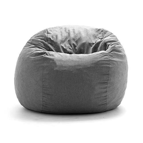 Amazon Com Big Joe King Fuf Gray Union Foam Filled Bean