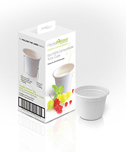 Precise-Portions-PP10CC-25-Portion-Control-Compostable-Cups-Natural-Bamboo-Fiber-Perfect-for-Weight-Loss-and-Healthy-Living-Pack-of-25