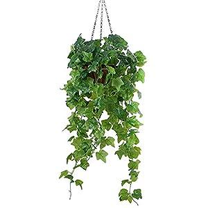 Lopkey Artificial Ivy Leaf Garland Plants Vine Hanging Wedding Garland Fake Flowers Hanging Basket 97