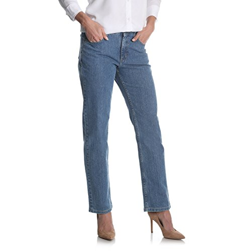 Riders by Lee Indigo Women's Relaxed Fit Straight Leg Jean, Gulf 10 Petite