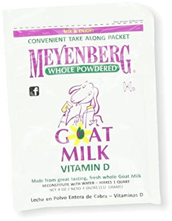 Meyenberg Powdered Goat Milk, Vitamin D, 4-Ounce Pouches (Pack of 12