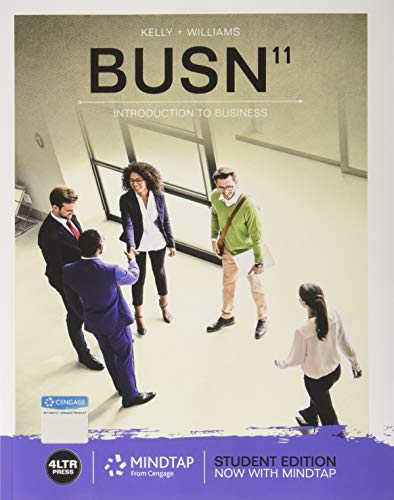 BUSN (with MindTap Business, 1 Term (6 Months) Printed Access Card)