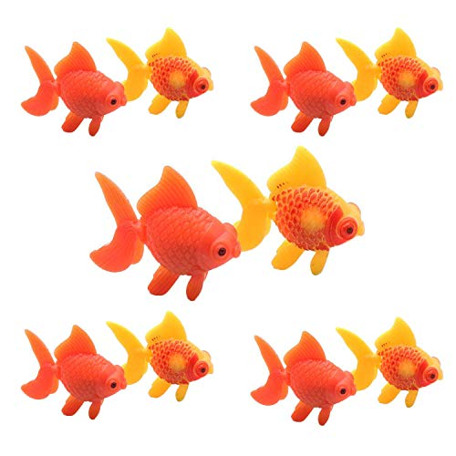 (YOOTOP 10Pcs Aquarium Plastic Goldfish Ornament Artificial Fish Decor Fish Tank Decoration)