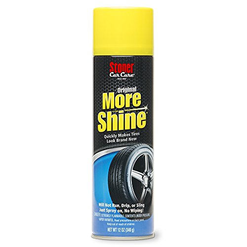 Stoner Car Care 90144 More Shine Original Tire Dressing, Tire and Wheel Care, Tire Shine, Long Lasting and Rain Resistant, 12-Ounce Can, Set of 1