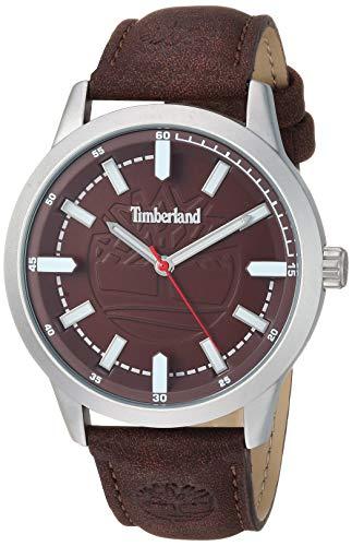 Timberland Men's 15897JYS12 Harwinton Dark Brown/Silver Watch