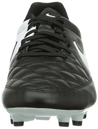 Nike Herren Tiempo Genio Leather FG Fußballschuhe, UK Schwarz (Black/White)