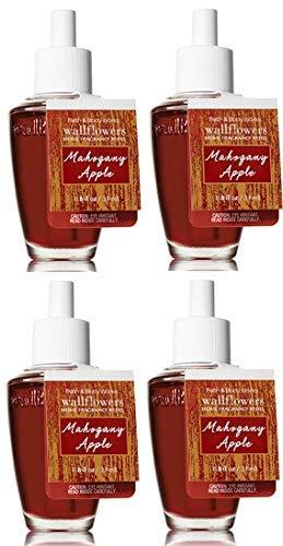 Bath and Body Works 4 Pack Mahogany Apple Wallflowers Fragrances Refill. 0.8 Oz. by Bath & Body Works