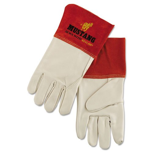 Memphis Mustang Mig/Tig Welder Gloves, Tan, Extra Large - Includes 12 pairs of gloves.