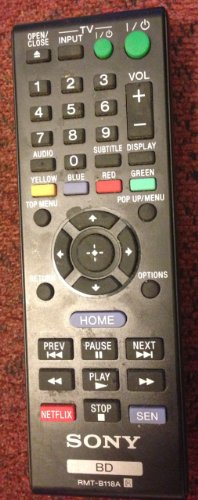 Sony RMT-B118A DVD/ Blu-ray Player Remote Control