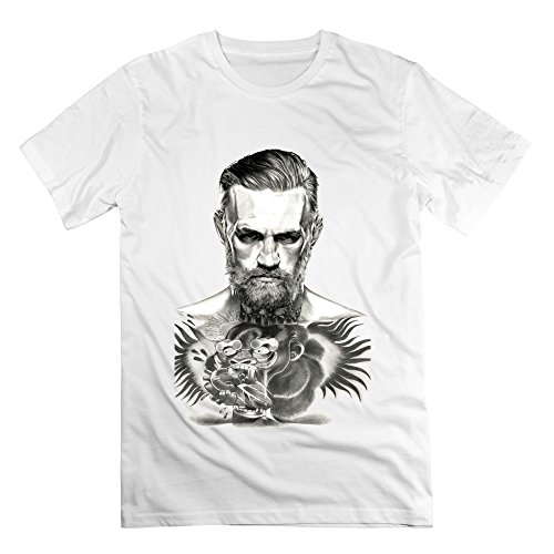 enhui-male-conor-mcgregor-logo-brand-teeshirt-xs-white