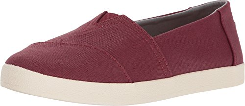 Toms Women's Black Cherry Coated Canvas Avalon 10010811 (SIZE: 8.5) - Coated Canvas