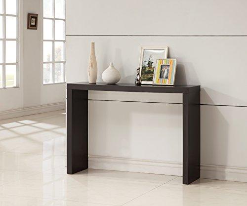 Cappuccino Finish Modern Console Sofa Entry Table
