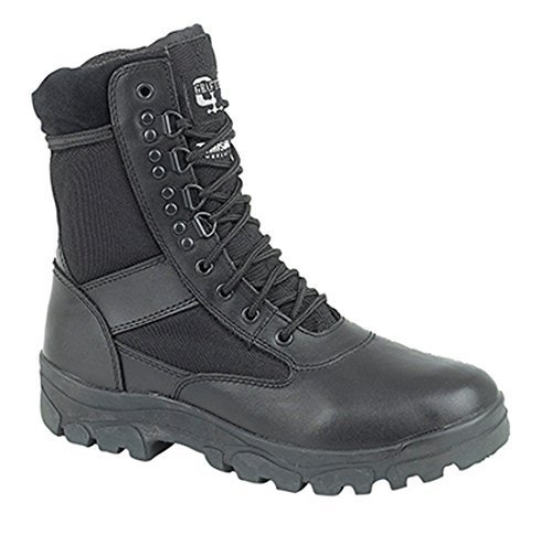 Grafters Bein Kampfstiefel Mit Stahl Sohle Schutz. Polizei Security Armee Cadet Sicherheit Stiefel - Schwarz, 40