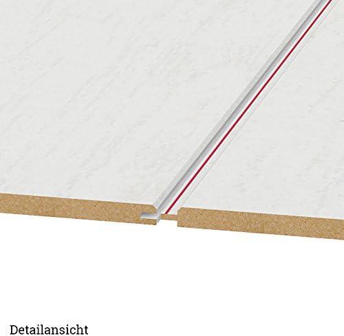 HDM Paneele 3,25m/² pro Paket Dekor Paneel Pinie Arktis 2600 x 250 x 10mm wei/ße Deckenpaneele mit Fit-Fix Schnellmontagehilfe dezente V-Fuge mit Nut-Feder Verbindung