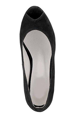 Andrea Conti zapatos de mujer Peeptoes Negro Negro