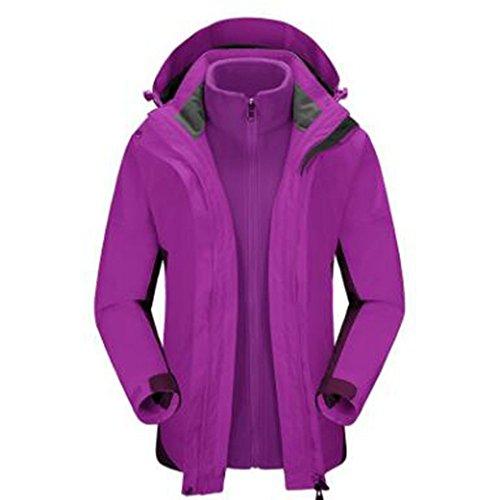 Montagna Giacche In Da Esterni Due Down Plus Sport Traspiranti Donna Fodera Impermeabile Abbigliamento Tre Viola Pezzi YqqHd