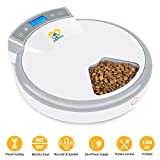 Casfuy 5-meals Automatic Cat Feeder - Auto Pet Feeder with...