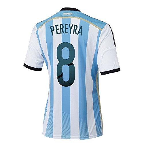コインランドリー顧問ランチョンAdidas PEREYRA #8 Argentina Home Soccer Jersey 2014(Authentic name and number of player)/サッカーユニフォーム アルゼンチン ホーム用 ペレイラ 背番号8