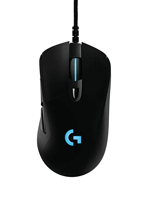d19d34d9ce4 Logitech G403 Prodigy RGB Gaming Mouse - 16.8 Million Color Backlighting, 6  Programmable Buttons,