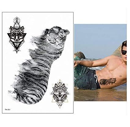 Tatuajes Temporales A Prueba De Agua Hombres Tatuaje Bosque Lobo ...