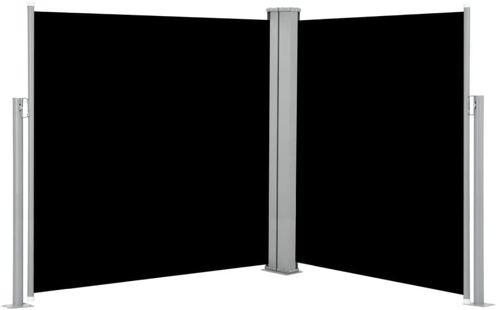 vidaXL Toldo Lateral Retráctil Acero y Tela 160x600cm Negro Biombo ...