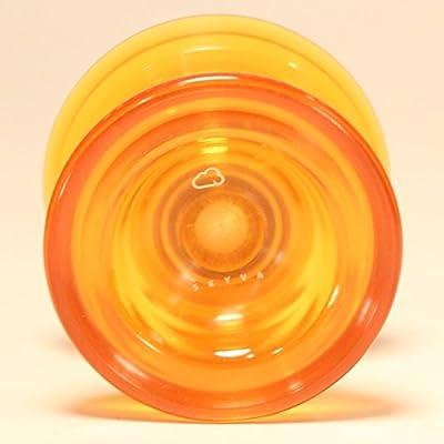 Magic YoYo SKYVA Yo-Yo Polycarbonate Plastic Jeffrey Pang Design (Translucent Orange): Toys & Games