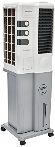 Crompton Mystique Dlx 34 Ltrs Tower Air Cooler (White-Grey)