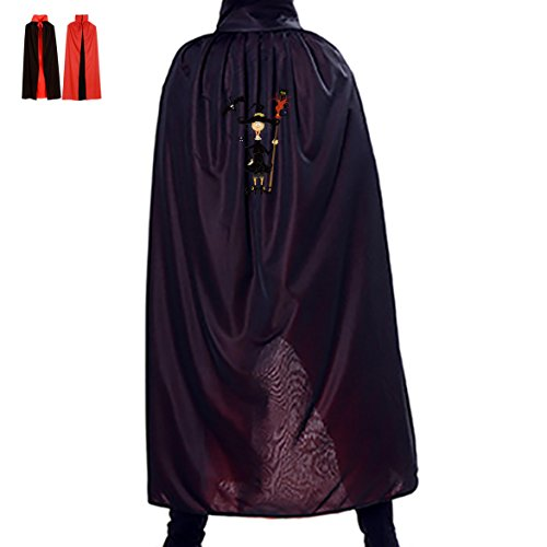 Old Witch Halloween Party Cosplay Vampire Cloak for Adult Kids
