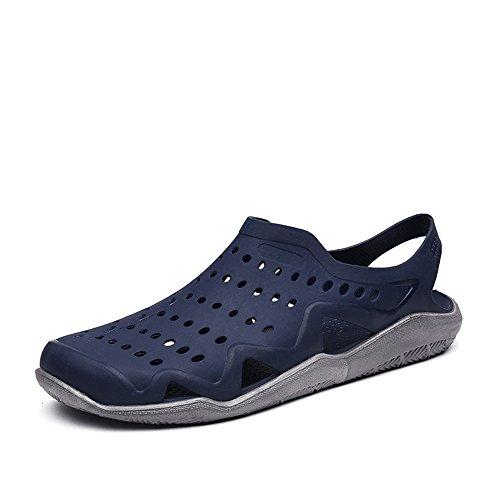 Ciabatte su Black Dimensione Sunny con sandalo uomo esterno Antiscivolo amp;Baby da sandali piccolo da Color 41 Gray cava Blue Gray e tacco piatto EU PwS5qS