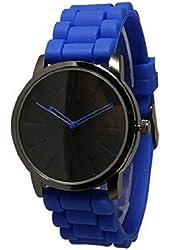 New Geneva Royal Blue w/ Black Silicone Watch