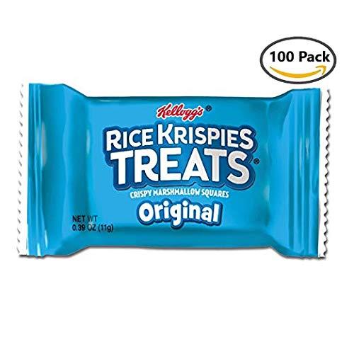 ies Treats Bars, Crispy Marshmallow Squares (Pack of 100, 0.39 oz Bars) ()